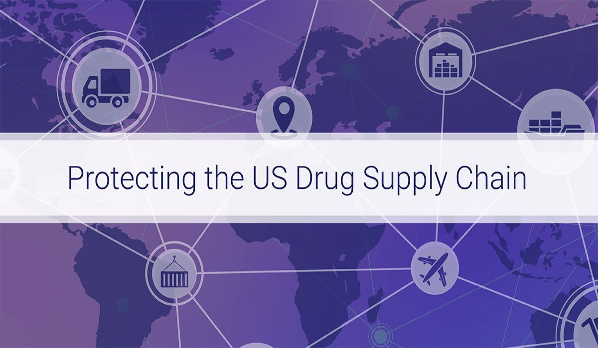 Graphic illustrating protection of the US drug supply chain
