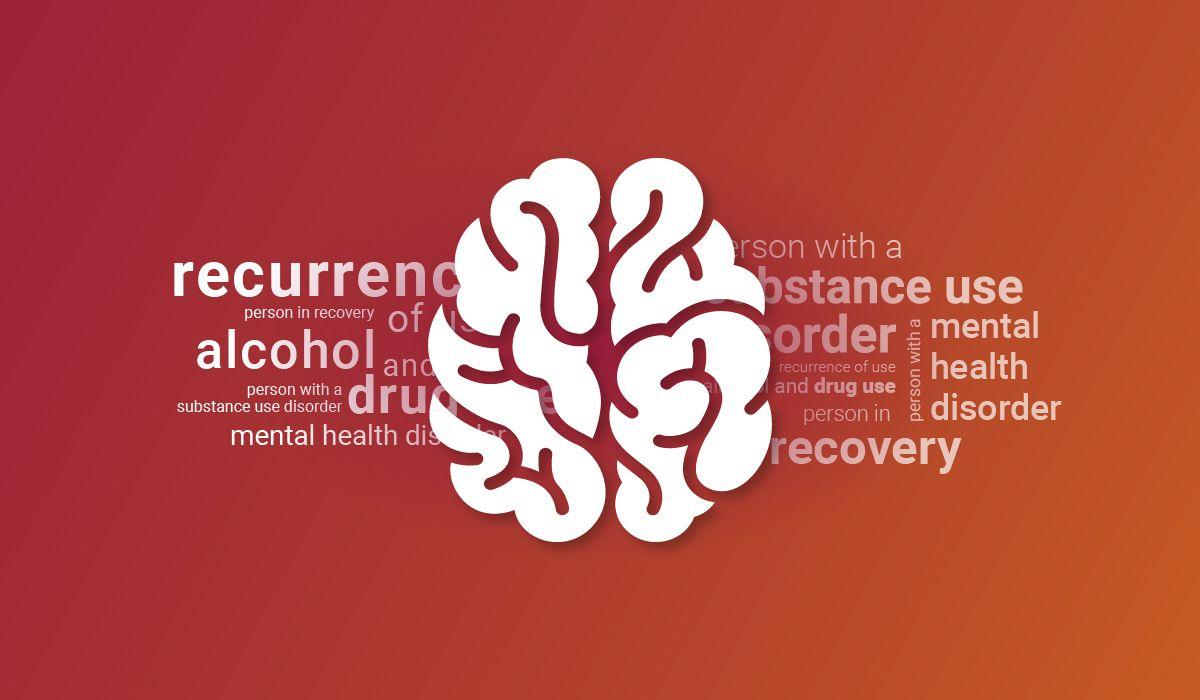 Illustration of brain with correct drug use language